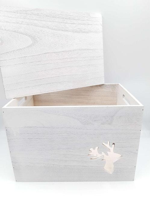 Box Wooden Reindeer cut-out