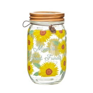 Sass & Belle Sunflower Mum Money Jar