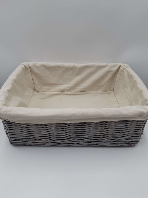 Basket Grey Wash Willow with Removable Lining (Large)