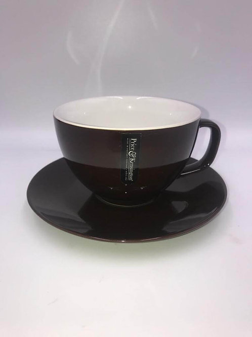 Price and Kensington Black Large Cup And Saucer