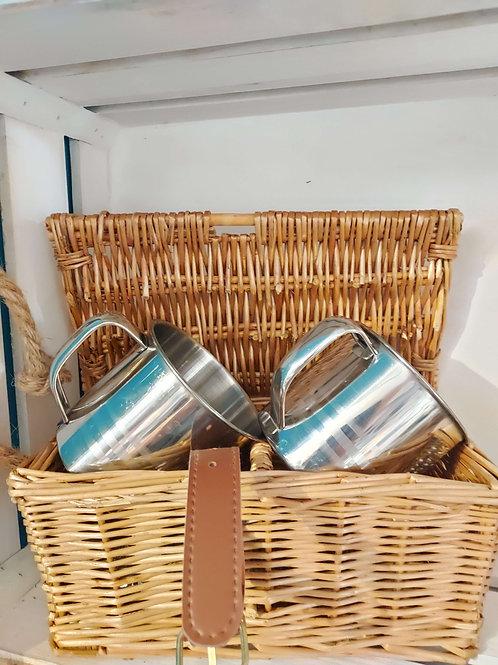 Basket Double Tankard Gift