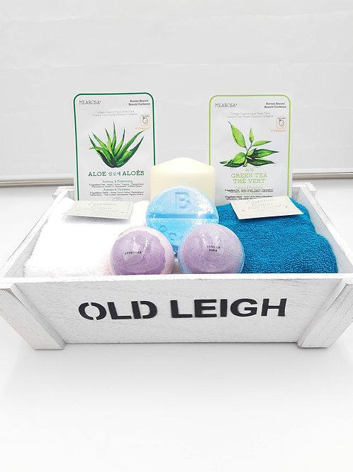Old Leigh Bath Gift Set (Blue/White)