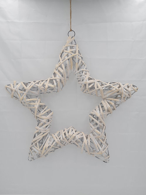 Willow Direct Star Decoration Open Whitewash