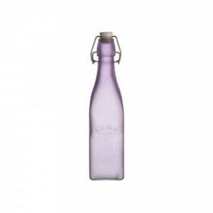 Kilner Purple Frosted Clip Top Bottle 0.55 Litre