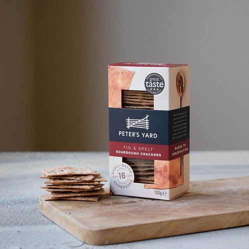 Peter's Yard Crackers - Fig & Spelt Sourdough 100g