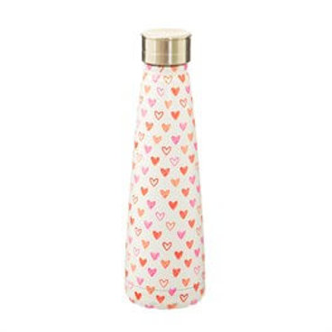 Sass & Belle Red Love Heart Stainless Steel Water Bottle