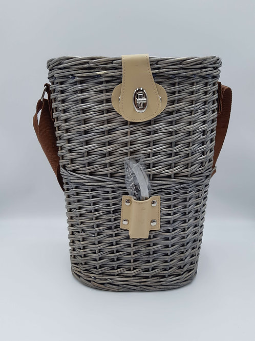 Basket Insulated Double Bottle Carrier with Bottle Opener