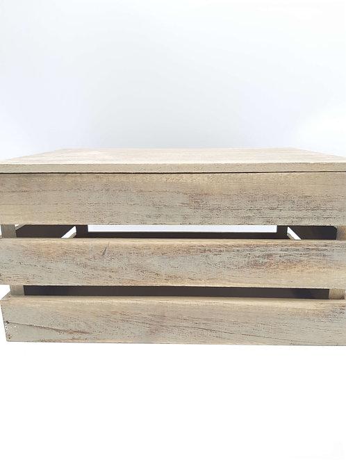 Box Vintage Slatted Wooden
