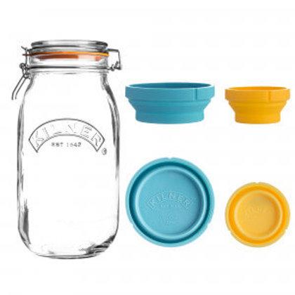 Klner Measure And Store Jar Set 2 Litre