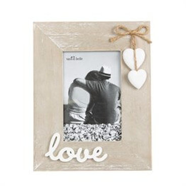 Sass & Belle Photo Frame Ashley Farmhouse Love Standing