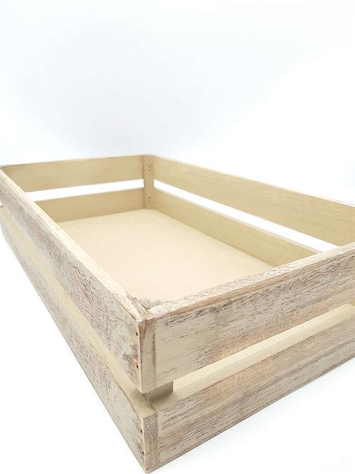 Crate (Shallow) Medium Oak Effect Packing