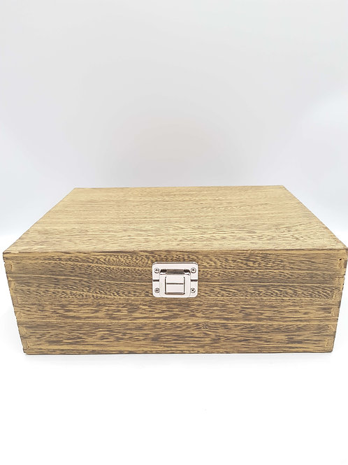 "12"" Oak Effect Wooden Box"