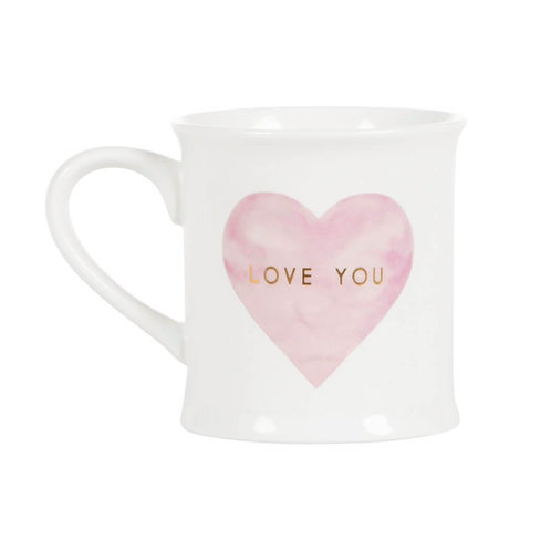 Sass & Belle Mug Love You Pastel Pink Heart
