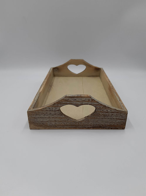 Tray Shallow Heart Handled (Large)
