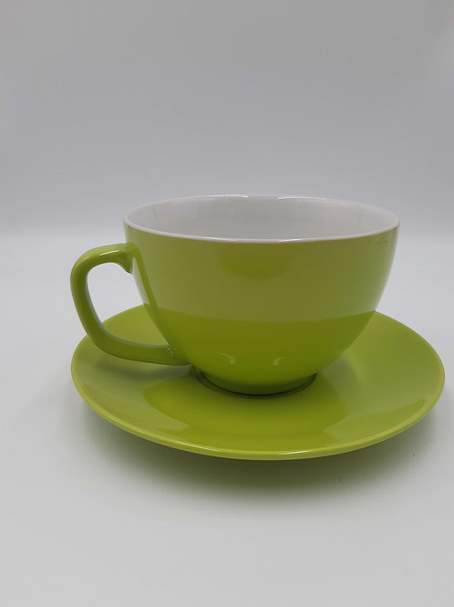 Price and Kensington Cup and Saucer (Green) Large