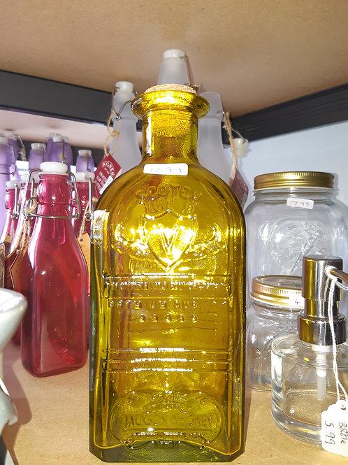 Glass Colour Cork Top Bottle
