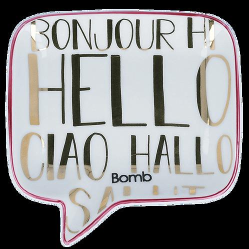 Bomb Cosmetics Hello All Language Soap Dish