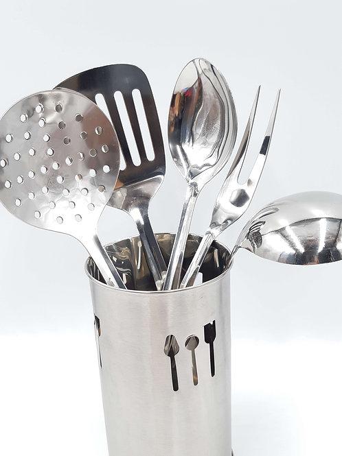 Prima Stainless Steel Kitchen Utensil Tool Set 6Pc