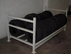 Rack metalico para pneu