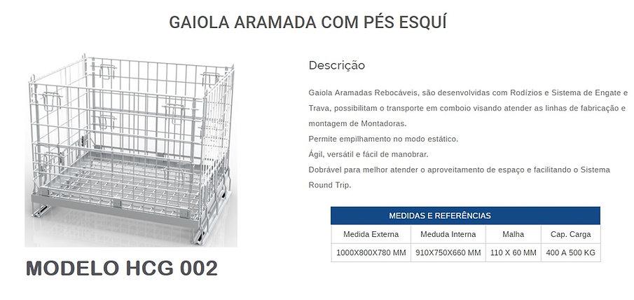 Gaiola aramada