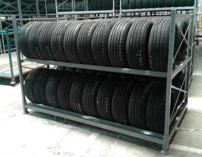 Rack metalico para pneus