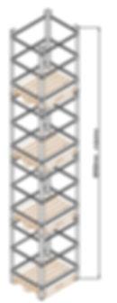 Rack metálico desmontável