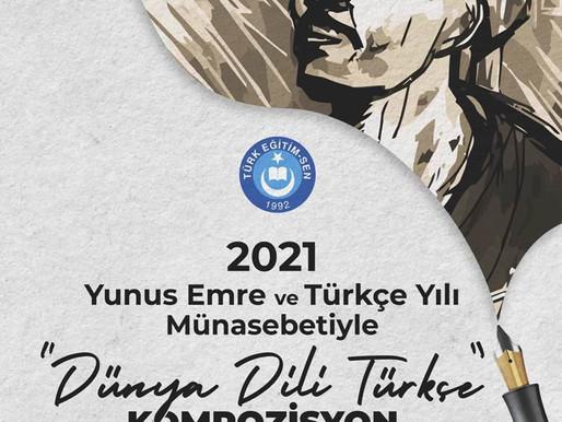 """""""Dünya Dili Türkçe"""" Kompozisyon Yarışması"""