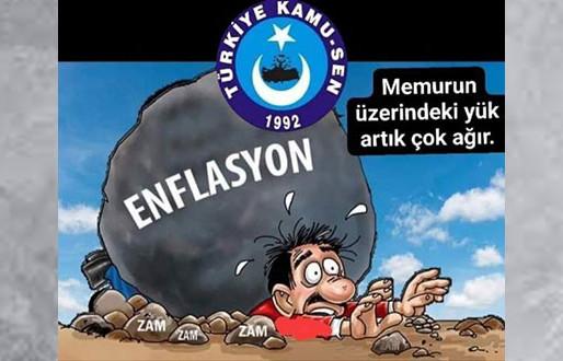 ENFLASYON KOŞUYOR MEMUR MAAŞI ERİYOR