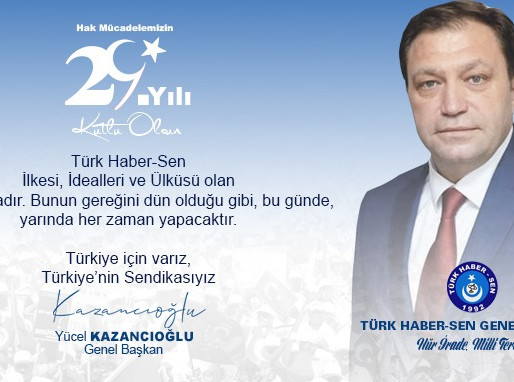 TÜRK HABER-SEN 29 YAŞINDA