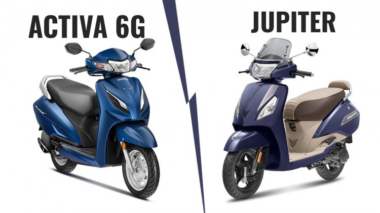 Comparison Between TVS Jupiter and Honda Activa 6G, Know which one is Best, All Specification