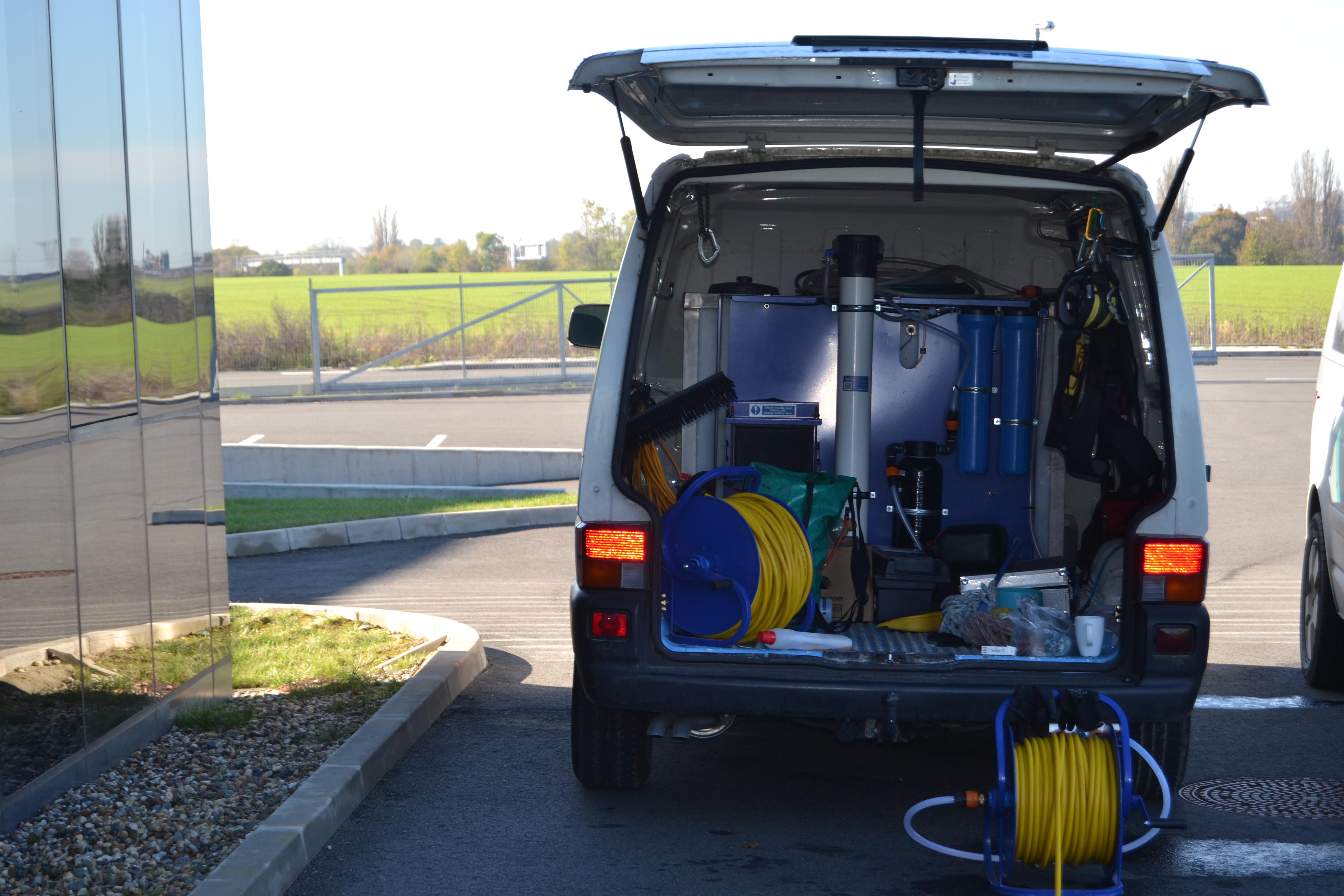 Vybavení mycího vozu