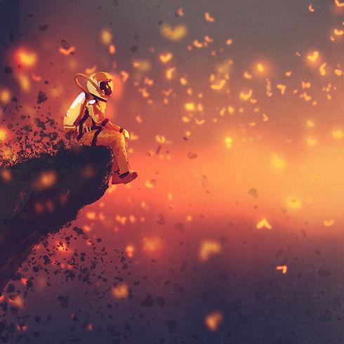 El astronauta luciérnagas Animación