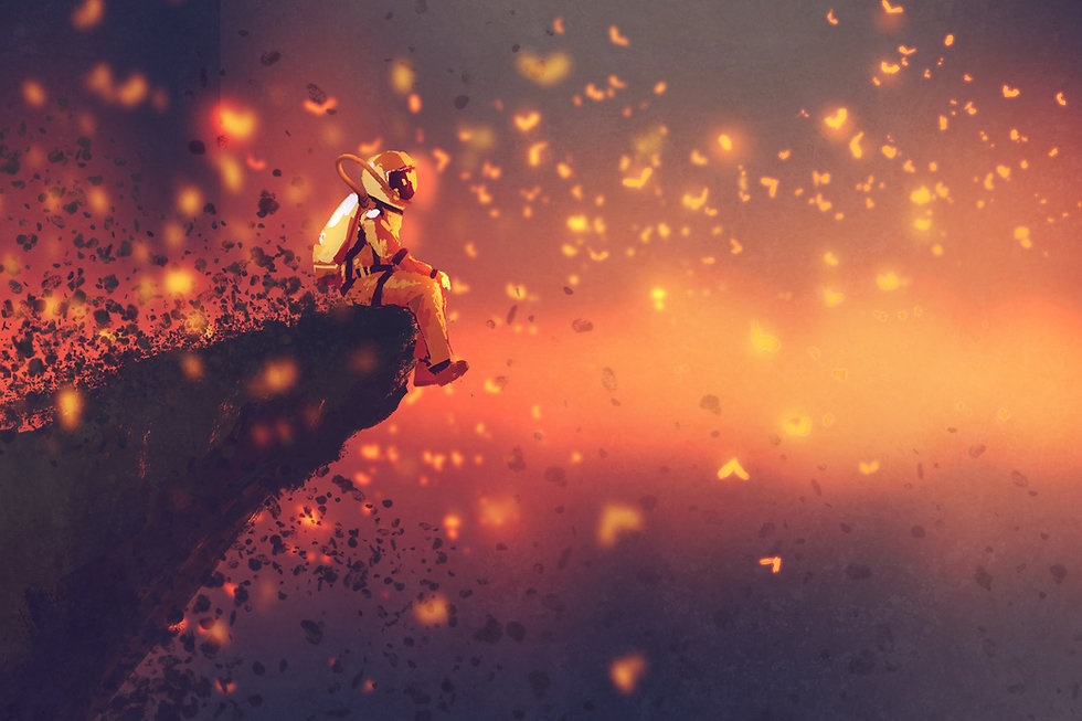 Astronauta Fireflies Animação