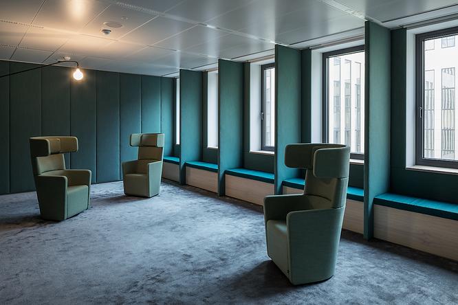 soft room, upholstery, wall panels, ocean green