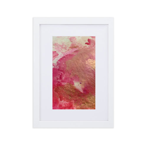 Layered Beauty: Matte Paper Framed Print With Mat