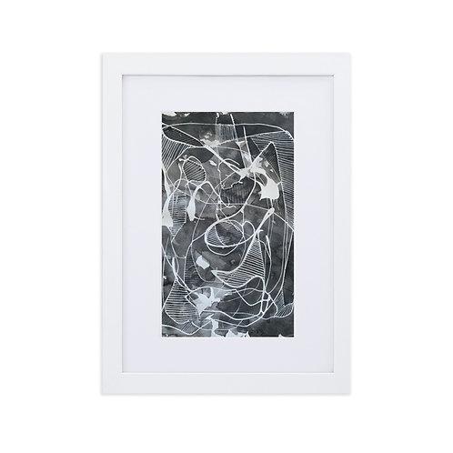 I Don't See Color: Matte Paper Framed Print With Mat