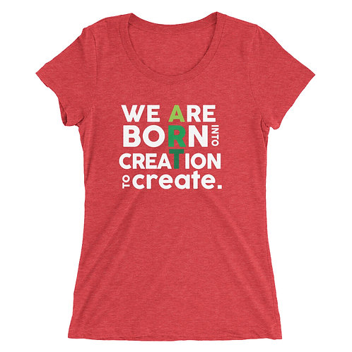 Ladies' short sleeve t-shirt: holiday