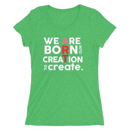 Ladies' short sleeve t-shirt: Holiday-green