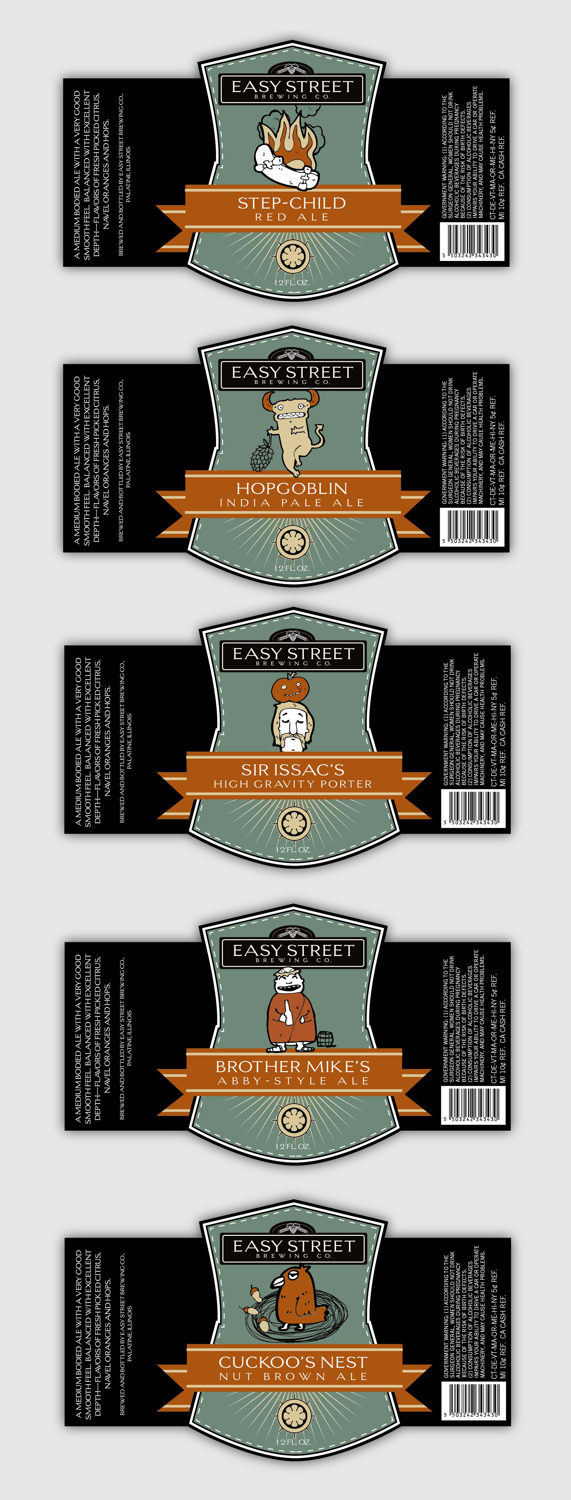 Brewery Beer Bottle Labels