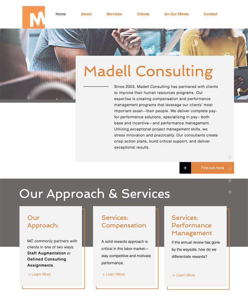 Madell Consulting website