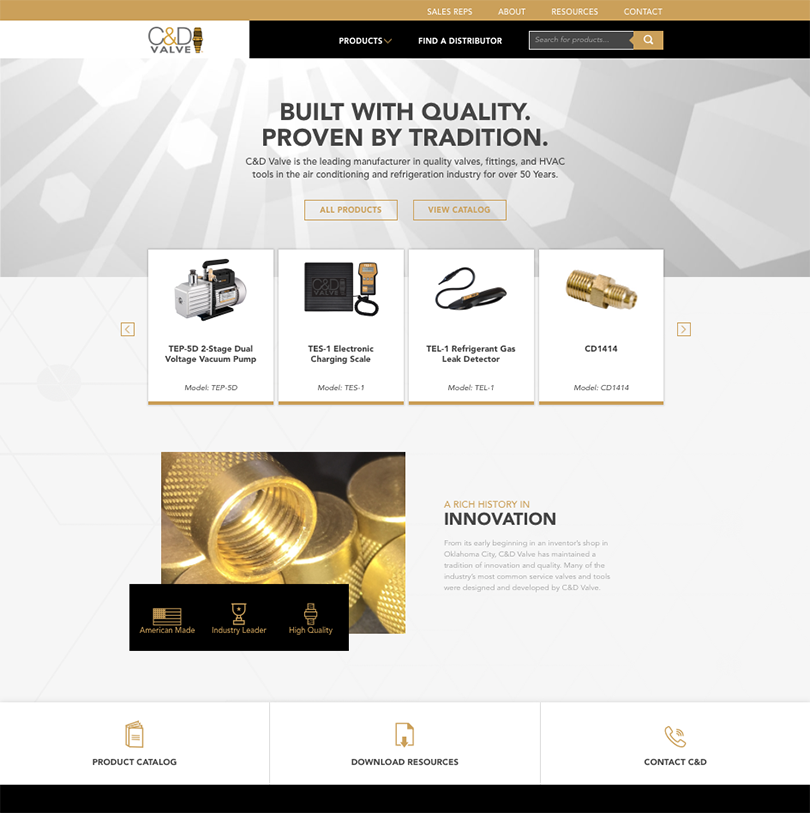 C&D Valve website