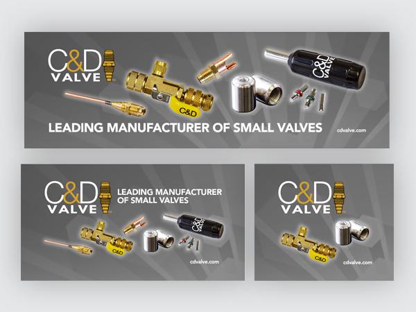 C&D Valve web banners