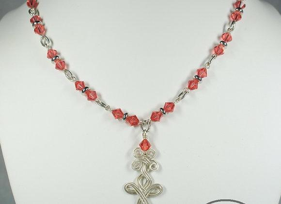 Sterling Silver Cross Necklace and Bracelet Set