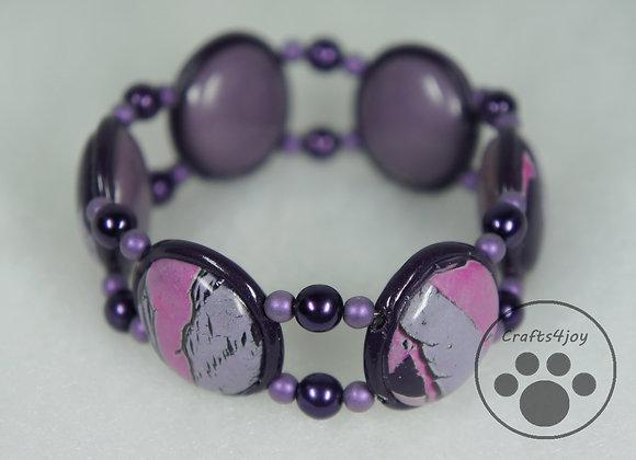 Purple Passion Tile Bracelet, Item JB-PuPa-002