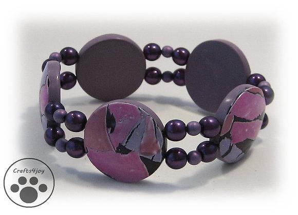 Pink and Purple Passion Bracelet, Item JB-PuPa-004