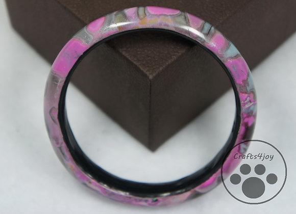 Pink and Blue Pastel Bangle, Item JB-BaBr-001