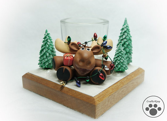 Christmoose candle holder, item DV-ChMo-001