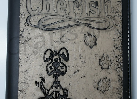 """Cherish"" embellished journal cover"