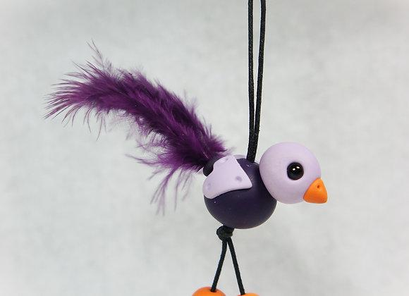 Whimsical Purse charm - Purple, Item CC-BiPC-007