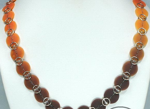 Color Gradient Beach Glass Necklace: JN-BhGl-002